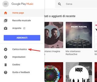 Subir música a Google Play Music