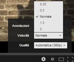 cambiar la velocidad en youtube